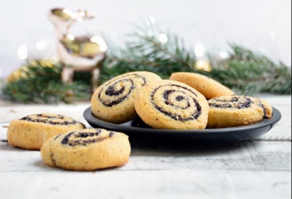 Marcipános-mákos kekszcsiga, recept