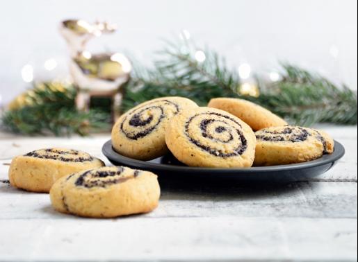 Marcipános-mákos kekszcsiga