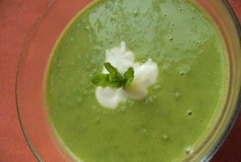 Mentás zöldborsókrémleves, recept