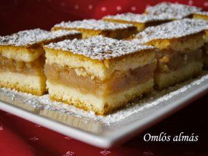 Omlós almás süteményl