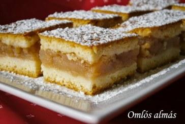 Omlós almás sütemény, recept