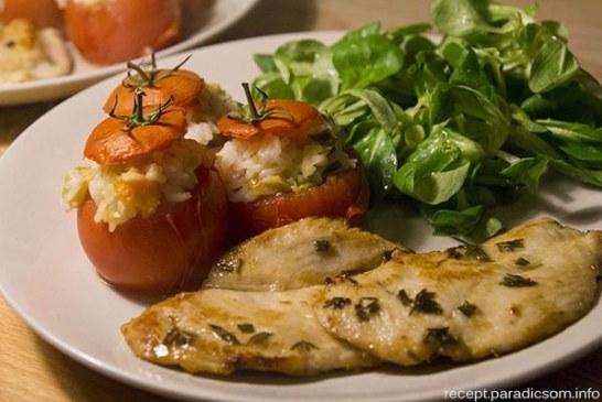 Friss fűszernövényes marinált csirkemell, recept