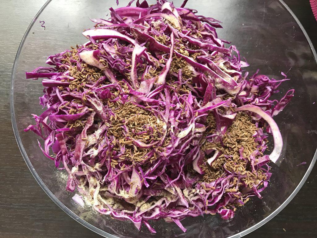 Friss lila káposzta saláta recept