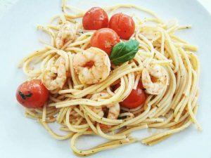 Ízletes Garnélás chilis spagetti