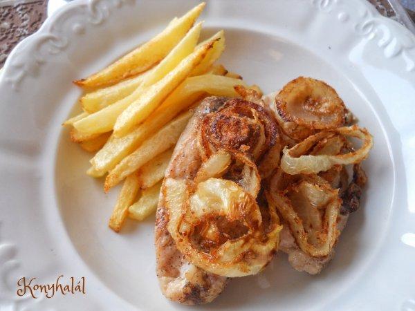 Pár perces hagymás csirkemell