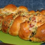 Húsvéti Sós kalács finom töltelékkel, recept