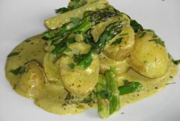 Krémes spárgasaláta újkrumplival, recept