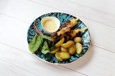 Mézes-mustáros grill csirkenyárs házi majonézzel, recept