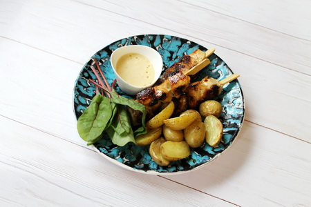 Mézes-mustáros csirkenyárs házi majonézzel