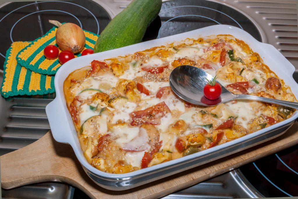 cukkinis sajtos tészta
