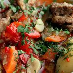 Lusta pörkölt zöldségekkel, recept
