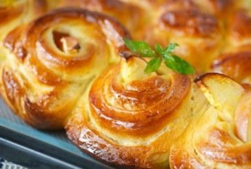 Pompás almás csiga sütemény, recept