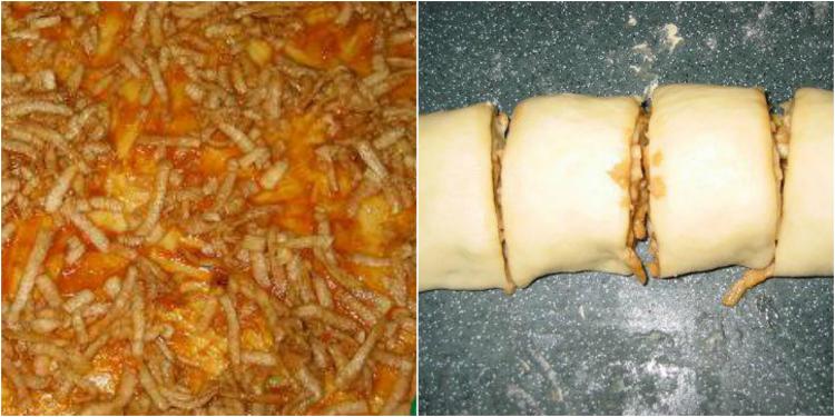 Pompás almás csiga sütemény